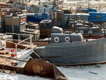 εγκαταλειμμένη βάρκα στοκ φωτογραφία