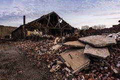 Εγκαταλειμμένη βιομηχανία - επιχείρηση Shanango Κίνα - το νέο Castle, Πενσυλβανία Στοκ Εικόνες