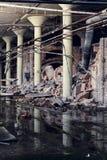 Εγκαταλειμμένη βιομηχανία - επιχείρηση Shanango Κίνα - το νέο Castle, Πενσυλβανία Στοκ εικόνα με δικαίωμα ελεύθερης χρήσης