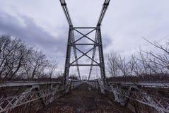 Εγκαταλειμμένη γέφυρα αναστολής της Δρέσδης - Δρέσδη, Οχάιο Στοκ Εικόνες