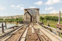 Εγκαταλειμμένη γέφυρα Στοκ Φωτογραφία