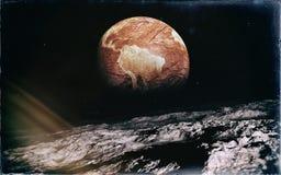 Εγκαταλειμμένη γη από το φεγγάρι Στοκ φωτογραφία με δικαίωμα ελεύθερης χρήσης