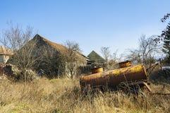 Εγκαταλειμμένη δεξαμενή Στοκ εικόνα με δικαίωμα ελεύθερης χρήσης
