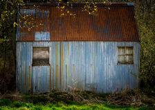 Εγκαταλειμμένη καμπίνα κασσίτερου Στοκ Φωτογραφίες