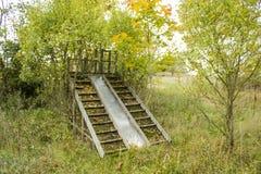 Εγκαταλειμμένη ξύλινη φωτογραφική διαφάνεια Στοκ εικόνα με δικαίωμα ελεύθερης χρήσης
