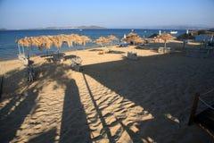Εγκαταλειμμένη παραλία, Ouranoupoli, Halkidiki, Ελλάδα Στοκ εικόνα με δικαίωμα ελεύθερης χρήσης