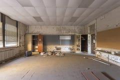 Εγκαταλειμμένη τάξη στο γυμνάσιο Στοκ φωτογραφία με δικαίωμα ελεύθερης χρήσης