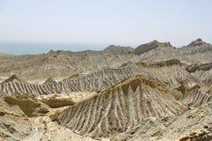 Εγκαταλειμμένοι αμμόλοφοι άμμου Baluchistan Πακιστάν Στοκ Φωτογραφίες