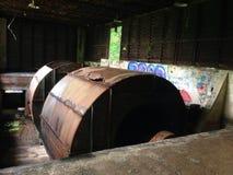 Εγκαταλειμμένοι ανεμιστήρες σηράγγων φραγμών Στοκ Εικόνες