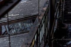 Εγκαταλειμμένος ανθρακιτικός διακόπτης άνθρακα στο ηλιοβασίλεμα - Πενσυλβανία Στοκ φωτογραφία με δικαίωμα ελεύθερης χρήσης