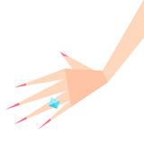 εγκαταλειμμένος γάμος δαχτυλιδιών χεριών διαζυγίου έννοιας ελεύθερη απεικόνιση δικαιώματος