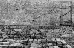 Εγκαταλειμμένος κατασκευασμένος τοίχος Στοκ φωτογραφίες με δικαίωμα ελεύθερης χρήσης