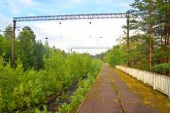 Εγκαταλειμμένος σιδηροδρομικός σταθμός Στοκ φωτογραφία με δικαίωμα ελεύθερης χρήσης
