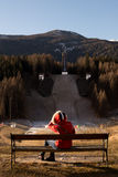 Εγκαταλειμμένο άλμα σκι Στοκ Φωτογραφία