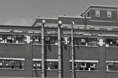 Εγκαταλειμμένο αυτοκίνητο εργοστάσιο - που φοριέται, που σπάζουν και που ξεχνιέται Β Στοκ εικόνες με δικαίωμα ελεύθερης χρήσης