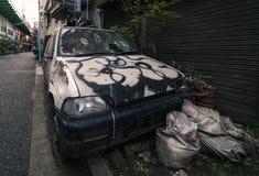 Εγκαταλειμμένο αυτοκίνητο στο Τόκιο Στοκ Φωτογραφίες