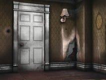 Εγκαταλειμμένο εκλεκτής ποιότητας δωμάτιο απεικόνιση αποθεμάτων