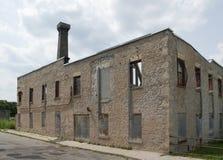Εγκαταλειμμένο εργοστάσιο επίπλων σε Elora, Καναδάς Στοκ Εικόνες