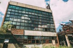 Εγκαταλειμμένο εργοστάσιο σε Efremov, βιομηχανικό κτήριο Στοκ Εικόνες