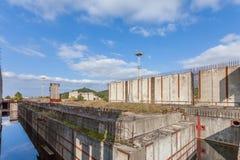 Εγκαταλειμμένο εργοτάξιο οικοδομής πυρηνικών σταθμών σε Żarnowiec, Π Στοκ φωτογραφία με δικαίωμα ελεύθερης χρήσης