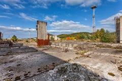Εγκαταλειμμένο εργοτάξιο οικοδομής πυρηνικών σταθμών Στοκ Φωτογραφία