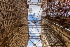 Εγκαταλειμμένο εργοτάξιο οικοδομής πυρηνικών σταθμών Στοκ εικόνες με δικαίωμα ελεύθερης χρήσης