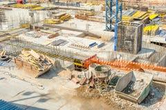 Εγκαταλειμμένο εργοτάξιο οικοδομής Στοκ Εικόνες