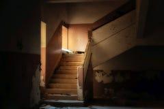 εγκαταλειμμένο εσωτερικό σπιτιών Στοκ εικόνα με δικαίωμα ελεύθερης χρήσης