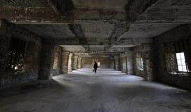 Εγκαταλειμμένο εσωτερικό δωματίου ξενοδοχείου Στοκ Εικόνες