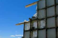 Εγκαταλειμμένο λεύκωμα: Σπασμένο μπλε Στοκ Φωτογραφίες