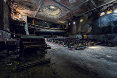 Εγκαταλειμμένο θέατρο - Buffalo, Νέα Υόρκη Στοκ εικόνες με δικαίωμα ελεύθερης χρήσης