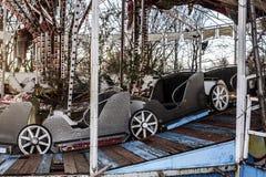 Εγκαταλειμμένο ιπποδρόμιο αυτοκινήτων ` s σε ένα πάρκο Στοκ Εικόνες