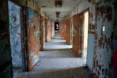εγκαταλειμμένο νοσοκ&omicr Στοκ Φωτογραφία