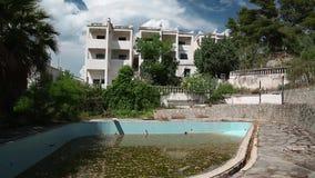 Εγκαταλειμμένο ξενοδοχείο απόθεμα βίντεο