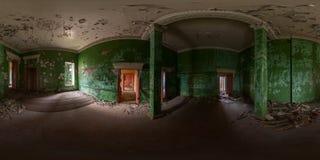 Εγκαταλειμμένο πανόραμα αιθουσών Στοκ φωτογραφία με δικαίωμα ελεύθερης χρήσης