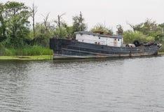 Εγκαταλειμμένο σκάφος Στοκ Φωτογραφία