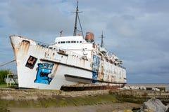εγκαταλειμμένο σκάφος Στοκ Εικόνα