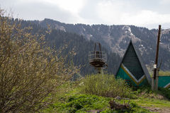 εγκαταλειμμένο σκι θερ Στοκ Φωτογραφίες