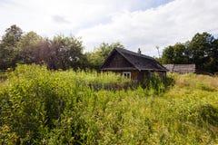 Εγκαταλειμμένο σπίτι, Λευκορωσία Στοκ φωτογραφία με δικαίωμα ελεύθερης χρήσης