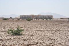 Εγκαταλειμμένο στρατιωτικό νοσοκομείο σε Berbera Στοκ φωτογραφία με δικαίωμα ελεύθερης χρήσης
