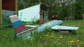 Εγκαταλειμμένο στρατόπεδο πρωτοπόρων sakhalin απόθεμα βίντεο