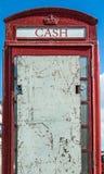Εγκαταλειμμένο τηλεφωνικό κιβώτιο στοκ φωτογραφία