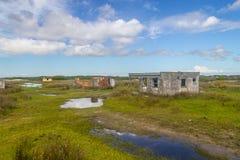 Εγκαταλειμμένο χωριό ψαράδων Στοκ Φωτογραφίες
