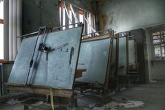 εγκαταλειμμένο δωμάτιο στοκ εικόνα