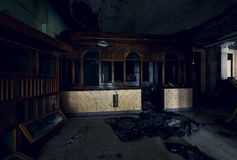 Εγκαταλειμμένο λόμπι σταθμών σιδηροδρόμου - Brownsville, Πενσυλβανία Στοκ φωτογραφία με δικαίωμα ελεύθερης χρήσης