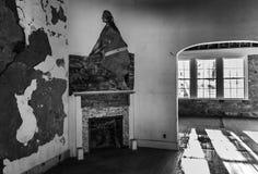 Εγκαταλειμμένο officer& x27 τοιχογραφία του s Στοκ φωτογραφίες με δικαίωμα ελεύθερης χρήσης