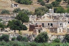 Εγκαταλειμμένο Souskiou χωριό στην περιοχή της Πάφος, Κύπρος Στοκ Εικόνες