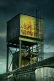 Εγκαταλελειμμένος πύργος εργοστασίων στοκ εικόνα