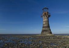 Εγκαταλελειμμένος φάρος, διάστημα που ολοκληρώνει αριστερά Άμμοι Whiteford, στοκ φωτογραφία με δικαίωμα ελεύθερης χρήσης