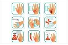 Εγκαύματα βαθμού καθορισμένα, επεξεργασία εγκαυμάτων και διανυσματικές απεικονίσεις ταξινόμησης ελεύθερη απεικόνιση δικαιώματος